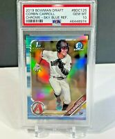 2019 Bowman Chrome Draft PSA 10 CORBIN CARROLL SKY BLUE REFRACTOR GEM MINT Card