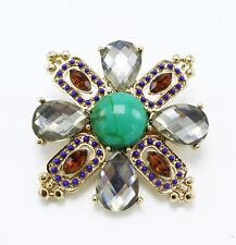 New Maltese Cross Malachite Brooch by Stella & Dot #S&D4