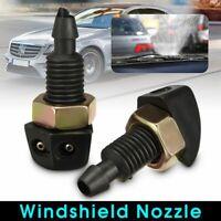 Plastic Black Vehicle Windshield Washer Nozzle Sprayer Car Supplies Universal