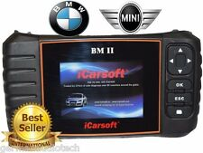 BMW MINI OBD2 DIAGNOSTIC SCANNER TOOL OIL ERASE FAULT CODES BEST iCARSOFT BM-II