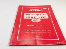 1982 Ford Model T And TT Price List of Parts & Accessories Mac's Antique Parts