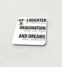 Laughter Imagination And Dreams Disney Cup Coasters Dining Table Cork Board