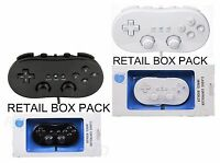 BOXED NEW WHITE BLACK CLASSIC CONTROLLER FOR NINTENDO WII CONSOLE + WARRANTY +UK