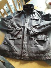 Mens Burton Brown Leather Coat /Jacket, size M