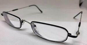 CAILI Design Rx Eyeglasses LI01 03 Black Silver Rectangular 50/20/140 Mens Frame