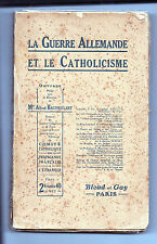 La Guerre Allemande et le Catholicisme - A.Baudrillard