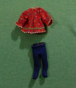 Vintage Tutti Doll Clothes - Vintage Tutti 3604 Skippin' Rope Dress and Stocking