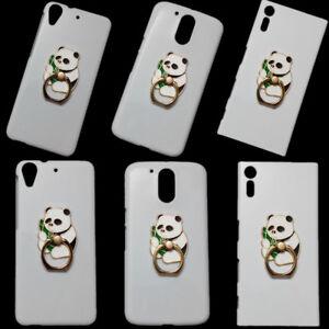 3D Cute Panda Finger Ring Holder Stand Hard Back Skin Case Cover for Phones
