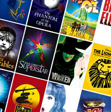 MUSICAL - MUSIC THEATRE POSTERS - A4 A3 A2 HD Prints - Wicked, Hairspray, Annie