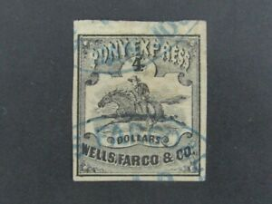 Nystamps US Local Post Stamp # 143L5 Used $7500 Wells Fargo Cancel a10xi