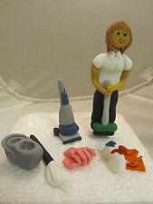 lady cleaner edible figure,mop,brush,hoover birthday cake topper,mum nan sister