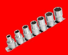 """7 tlg Kurze 3/8"""" Stecknuss Steckschlüssel 6-KANT Nuss Gr. 7-8-9-10-11-12-13mm YT"""