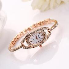 Fashion Women Bracelet Stainless Steel Crystal Quartz Analog Wrist Watch Watches