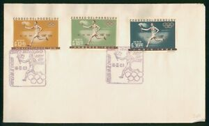 Mayfairstamps Paraguay FDC 1963 Olympic Torch Runner First Day Cover wwp_63765