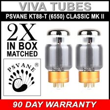 New Current Matched Pair (2) Psvane KT88-T Classic MKII II Series Vacuum Tubes