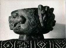 Art Brut Primitif Sculpture Totem Masque Photo P. Joly V. Cardot c. 1970  ART 89