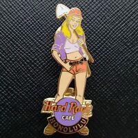 HONOLULU HAWAII US🇺🇸 Hard Rock Cafe® HRC Blond Hair Construction Girl w/SHOVEL