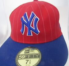 MLB NY.YANKEES BALL CAP HAT  FIT BLUE SIZE  7 1/4  NEW ERA 59-50  CAP HAT A10