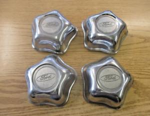 Factory original 1995 to 1999 Ford Explorer alloy wheel center caps hubcaps