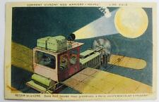 Victorian Postcard Chocolat Lombart 1912  Back from the Moon in 8 Hours  Norgeu