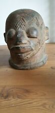 Large Clay Head of an African Person, hollow inside. Ethnographic.