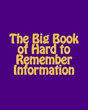 The Big Book of Hard to Remember Information : (Keep Me Safe!) by Martha...