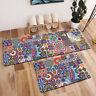 Area Rug Abstract Mandala Flower Floor Mat Living Room Bedroom Home Door Carpet