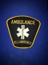 ST. LAWRENCE AMBULANCE PATCH, PARAMEDIC EMS AMBULANCE, ONTARIO CANADA