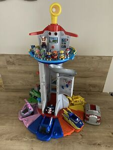 Paw Patrol My Size Lookout Tower With Pups & Vehicles Ryder Skye Zuma Everest