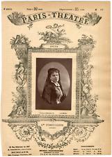 Lemercier et Cie, Paris-Théâtre, Mme Fursch-Madier, chanteuse Vintage Albumen Pr