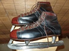 Vintage Silver Arrow Ice Skates Leather Made In Canada Men's 11 Med.