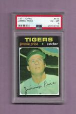 1971 TOPPS JIMMIE PRICE BASEBALL CARD #444 - GRADED EX-MINT PSA 6 - TIGERS