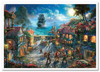 Thomas Kinkade DISNEY-2 Pirates - Caribbean Captain J cartoon postcard modern