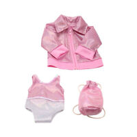 Fashion Pink Bling Bling Swimsuit for 18 Inch Dolls with Coat and Backpack