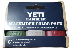 YETI Rambler Magslider Color Pack - Olive (Green), Gray, Harvest Red