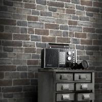 Rasch Vintage Urban Wooden Brick Wallpaper Blue//Grey 941623