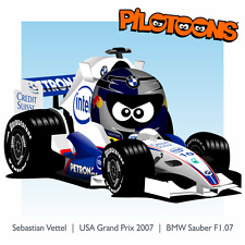 Print on Canvas BMW Sauber F1.07 2007 #10 Sebastian Vettel (GER) by BM