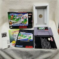 Super Nintendo SNES Bugs Bunny Rabbit Rampage Complete  CIB Contacts Cleaned
