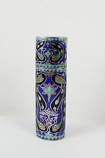 Stunning Sterling Silver 925 Cloisonné Needle / Vesta / Toothpick Case