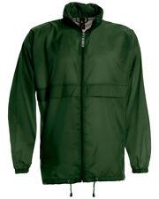 GREEN Mens Lightweight Windbreaker/Waterproof Jacket. B&C Sirocco - JU800