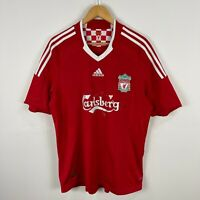Adidas Liverpool Football Jersey 2008 Mens Large Red Short Sleeve V-Neck