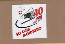 ADESIVO STICKER VINTAGE 40 ANNI 1971 2011 SCI CLUB MENDRISIO