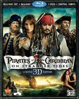 Pirates of the Caribbean: On Stranger Tides 3D 5-Disc Set Blu-ray DVD W/Slip NEW
