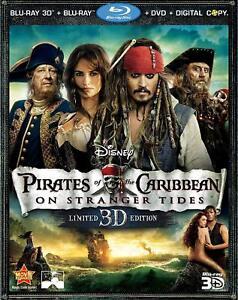 Pirates of the Caribbean: On Stranger Tides 3D 5-Disc Set Blu-ray DVD W/Slip NEW