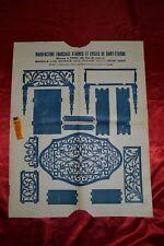 Plan de découpe Petite Table ovale avec tiroir servant de Coffret à bijoux
