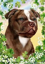 Clover House Flag - Chocolate Staffordshire Bull Terrier 31244