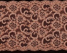 Bronze Rigid Lace Trimming 4mts 18.5cm Wide