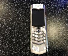 Vertu Signature S Design - Mother Pearl Diamonds (Unlocked) Cellular Phone
