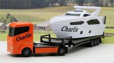PERSONALISED NAME Gift Boys Toy CRUISER YACHT BOAT TRANSPORTER LORRY Present Box
