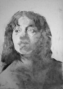 Woman in Charcoal - A4 - charcoal on 150gsm tonal grey paper